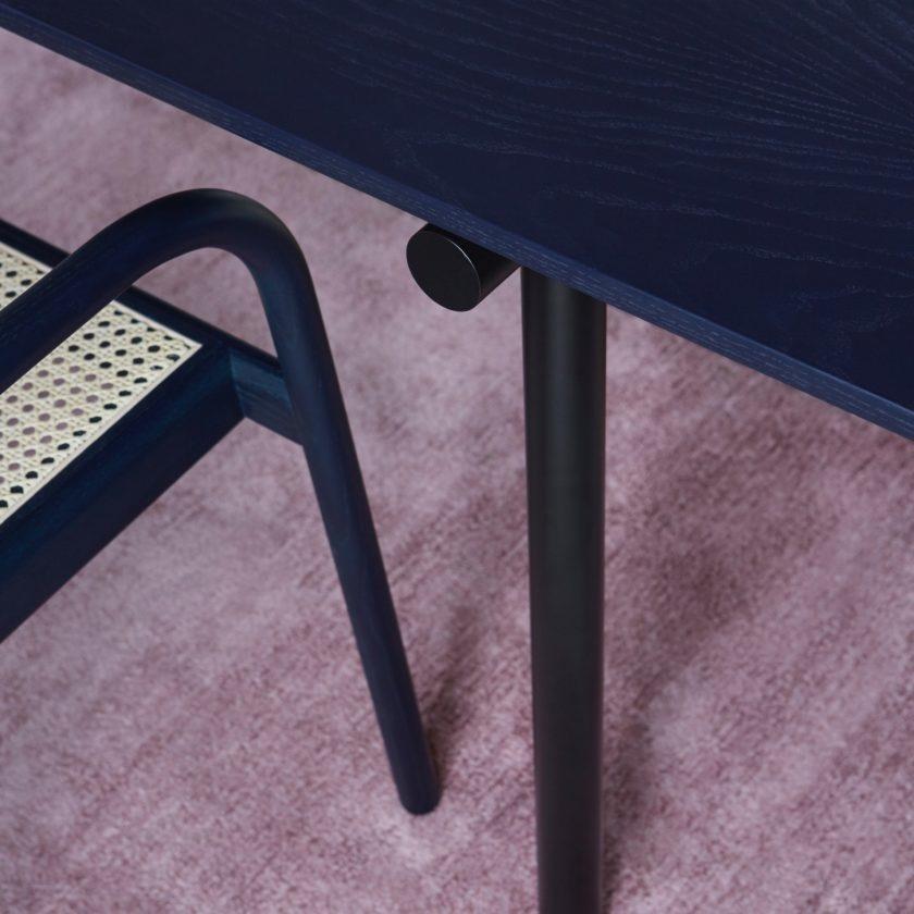 Tubby Tube Table - Black Frame 240 x 90 cm.-5