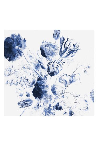 Fotobehang Royal Blue Flowers 2 - 292.2 x 280
