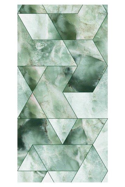 Behang Marmer Mosaic - 97.4 x 280 groen