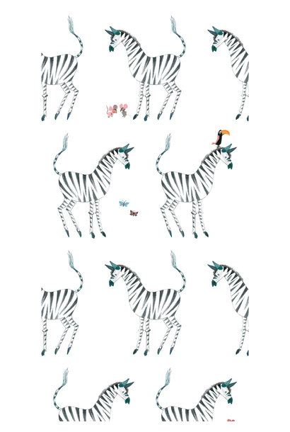 Behang Zebra - 97.4 x 280