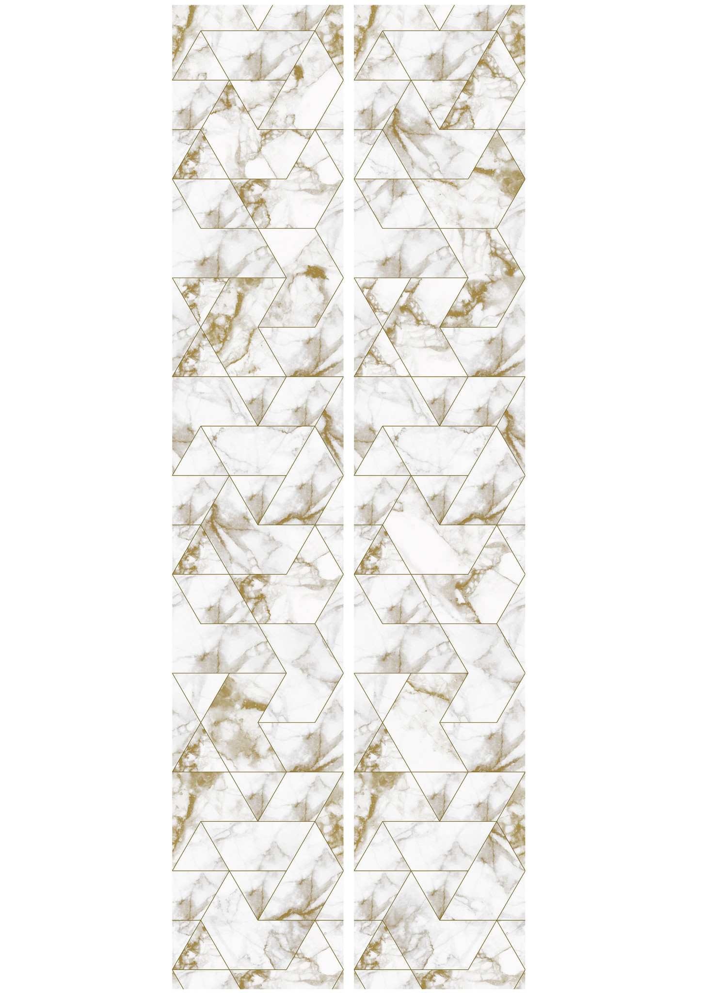 Behang Marmer Mosaic - 97.4 x 280 wit-goud-4