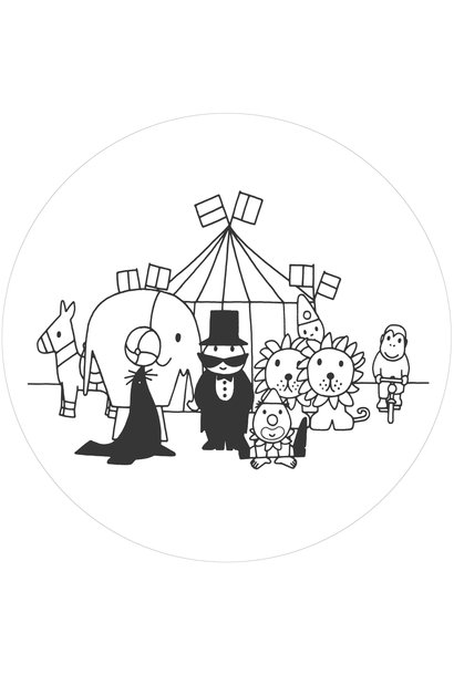 Behangcirkel Dick Bruna Circus - ø 190