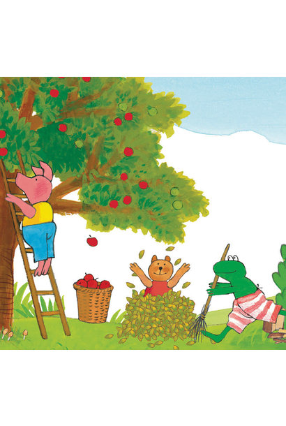 Fotobehang Kikker Picking Apples - 292.2 x 280