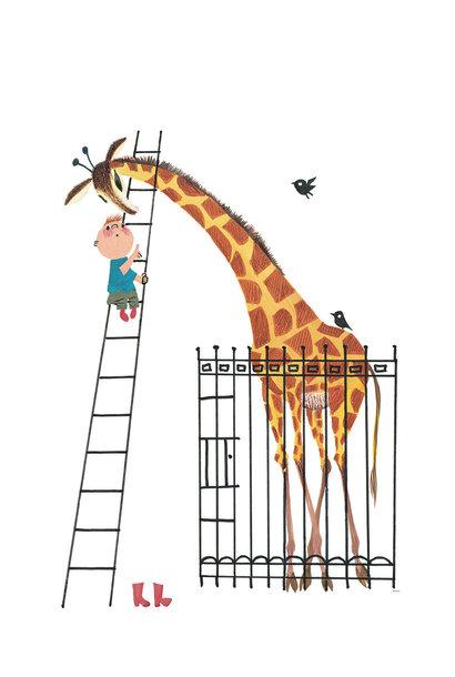 Fotobehang Giant Giraffe - 243.5 x 280
