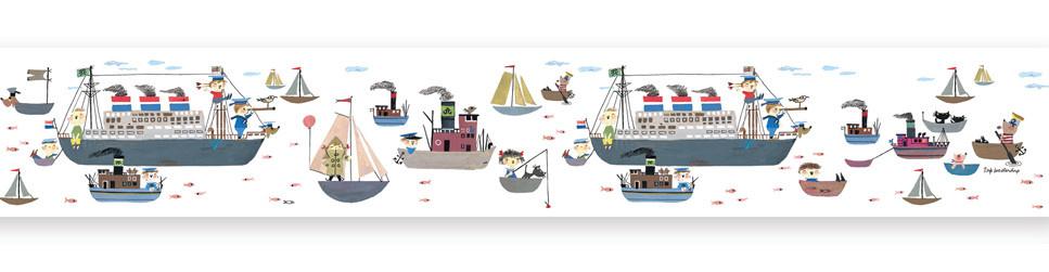 Behangrand Holland America Line - 500 x 16-1