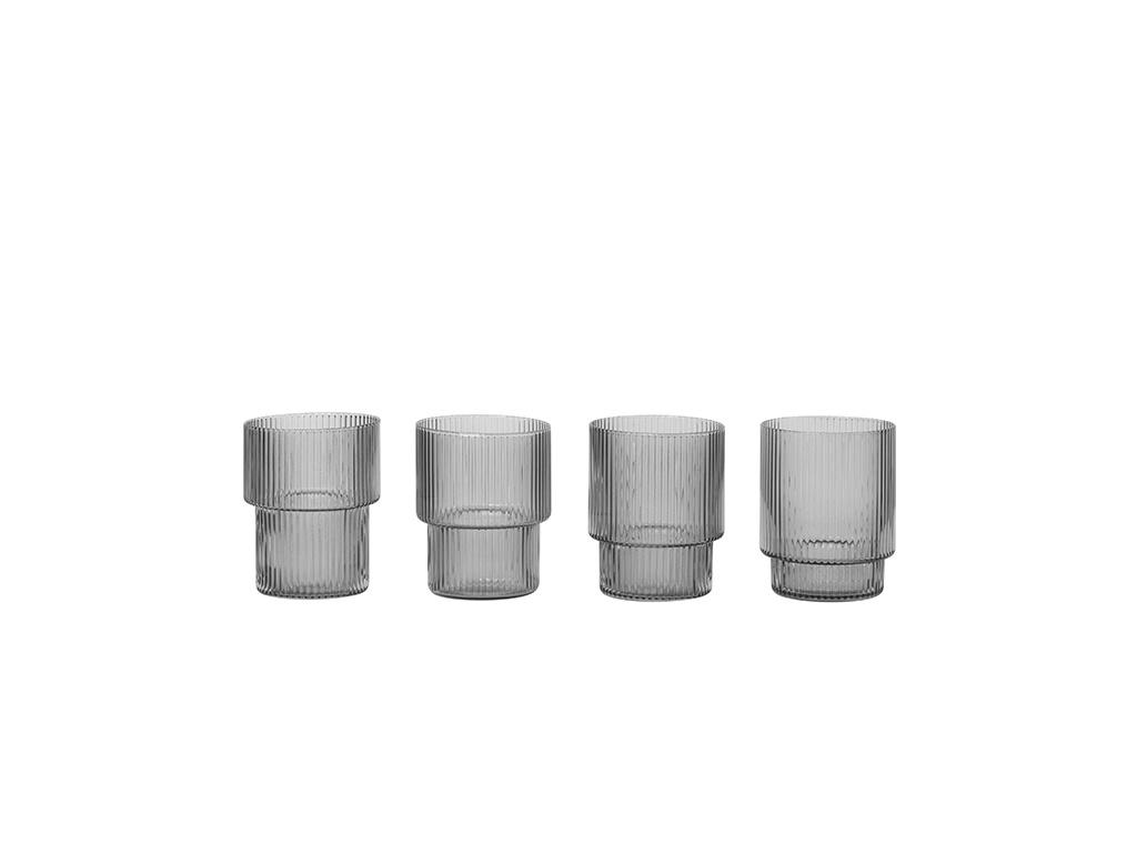 Ripple Glass - set of 4-2