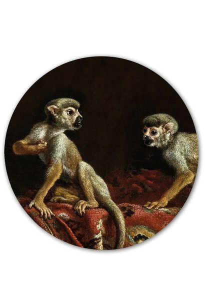 Magnetic sticker - two little monkeys
