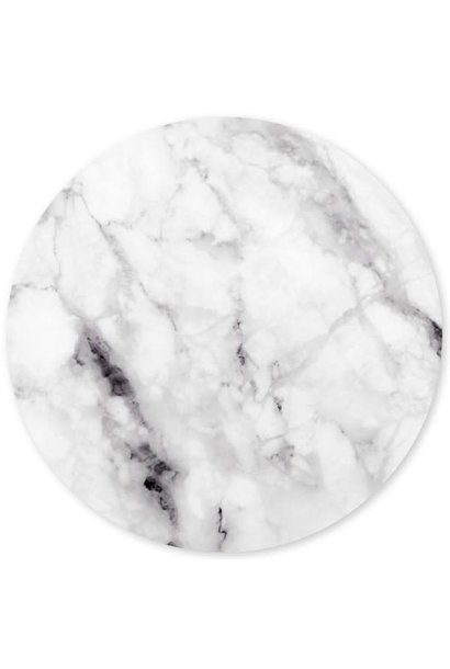 Magnetic sticker - marble - white