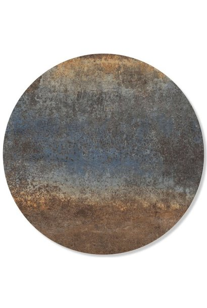 Magnetic sticker - rusty metal - steel blue