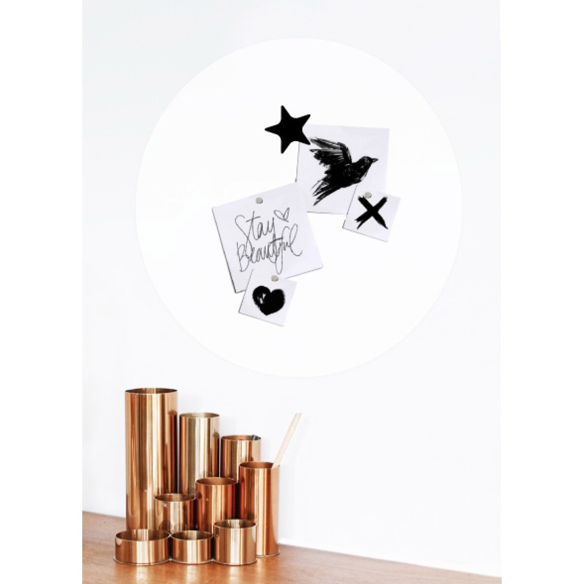 Magnetic sticker - white-2