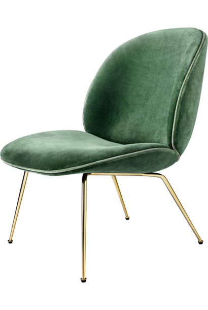Beetle Lounge Chair - Brass / Black Chrome - vanaf € 1470,00 (stofferingsopties)