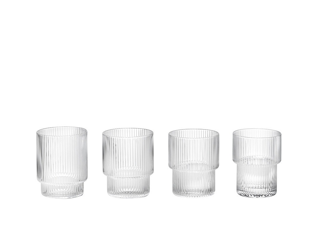 Ripple Glass - set of 4-10