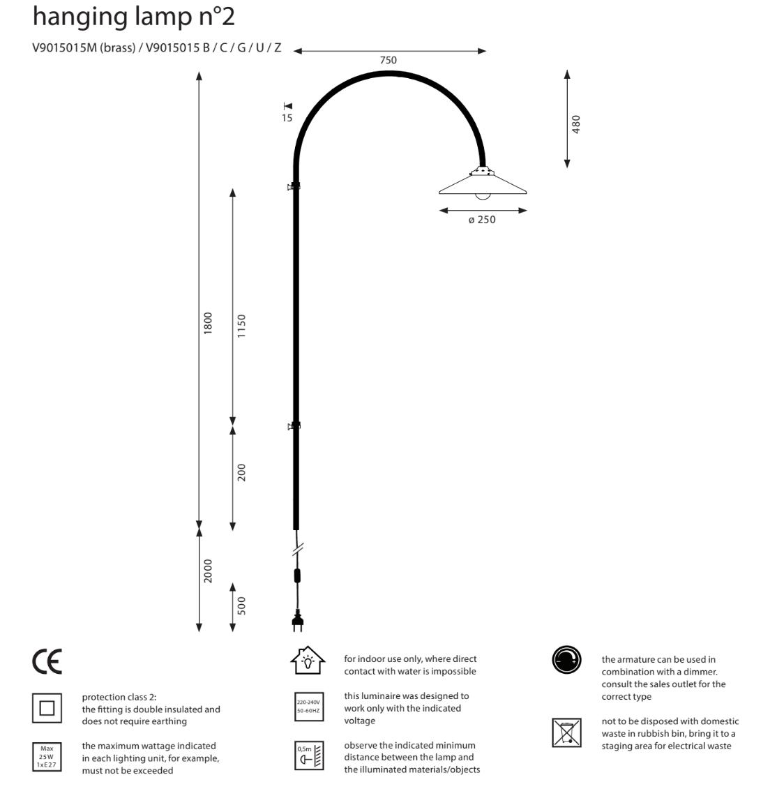 Hanging Lamp No. 2-3