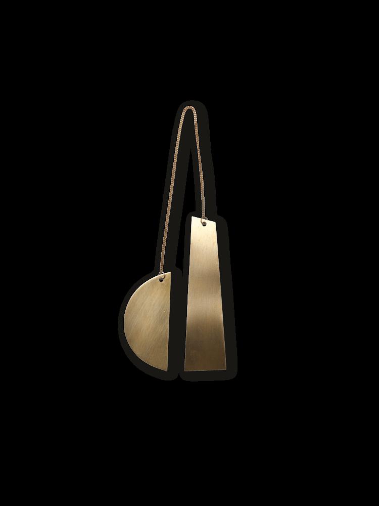 Twin Half Moon Brass Ornament-1