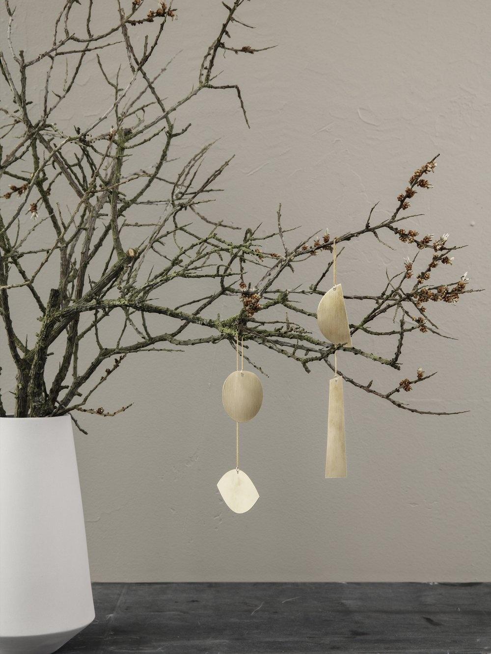 Twin Half Moon Brass Ornament-3
