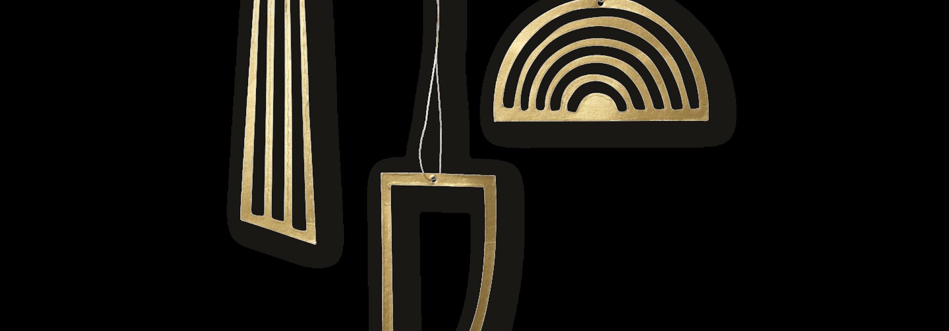 Golden Ornaments (set of 3)