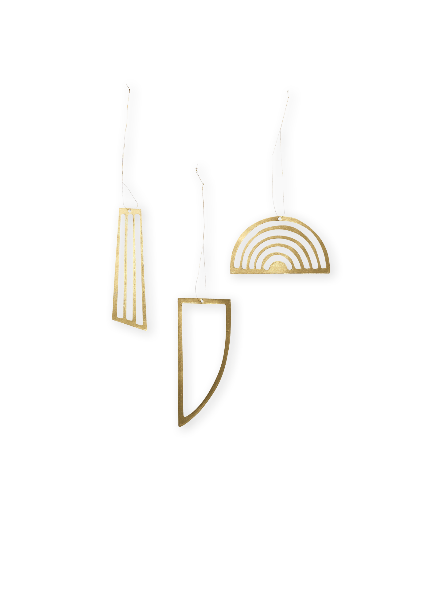 Golden Ornaments (set of 3)-1