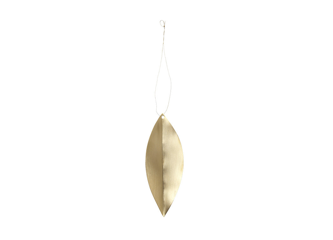 Leaf Brass Ornaments - Set of 4-1