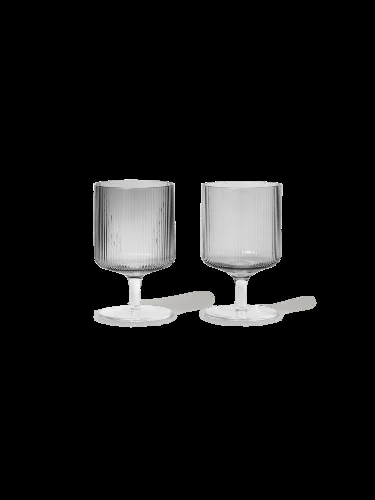 Ripple Wine Glasses (Set of 2)-2