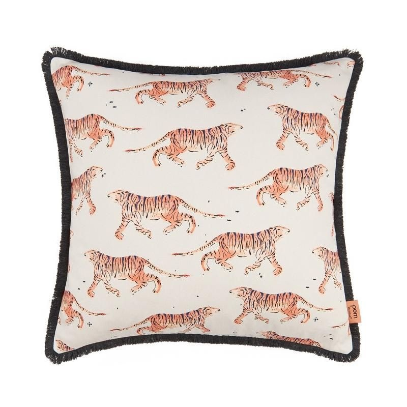 Indian Tiger Coral Cushion 50 x 50-1