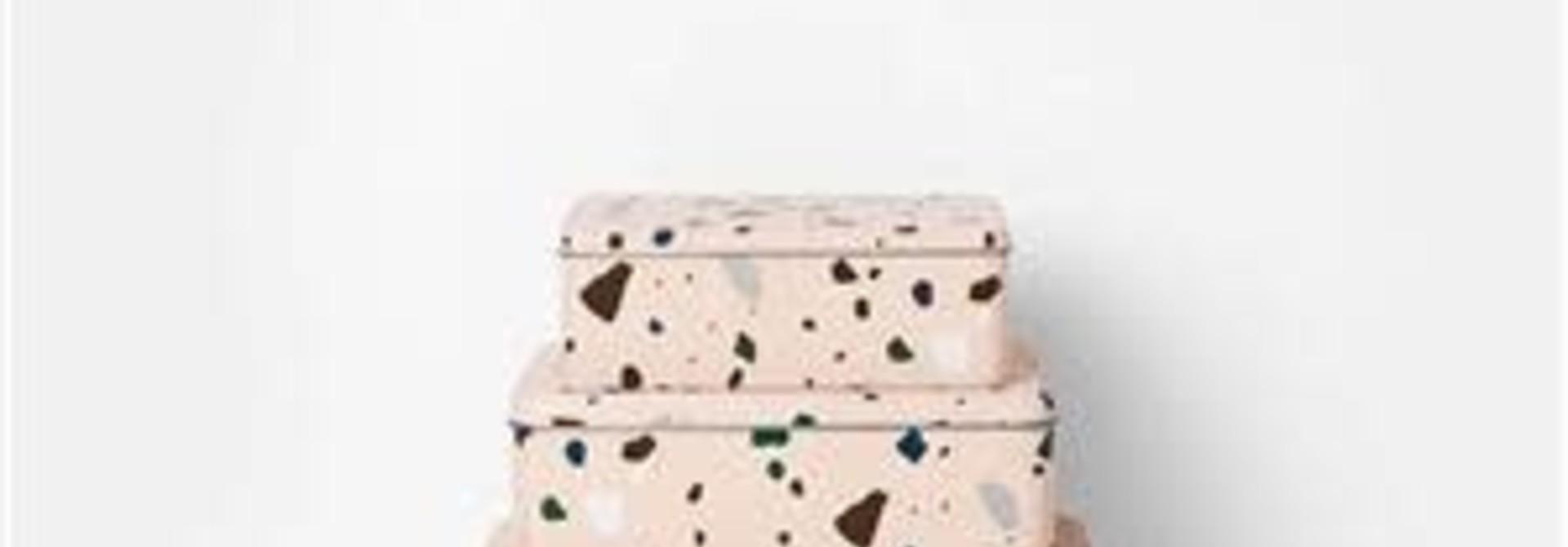 Tin boxes Terrazzo