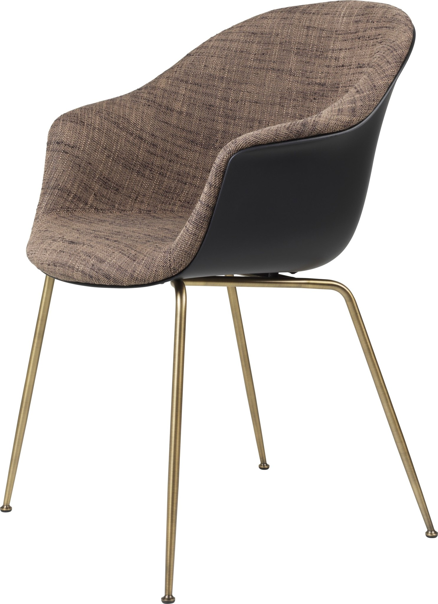 Bat Chair Half Gestoffeerd - Brass / Black - Vanaf € 619.00-2