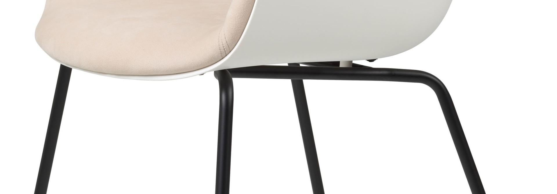 Bat Chair Half Gestoffeerd - Brass / Black - Vanaf € 619.00
