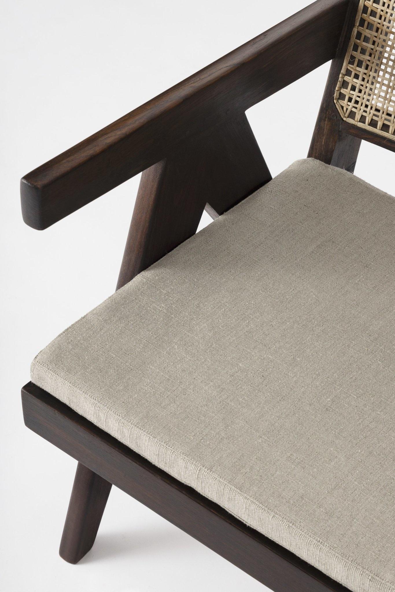 Italian Linen zit kussen - Pierre Jeanneret Chairs-2