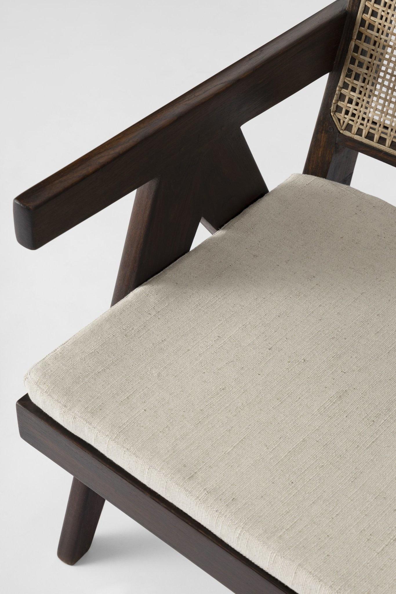 Italian Linen zit kussen - Pierre Jeanneret Chairs-1