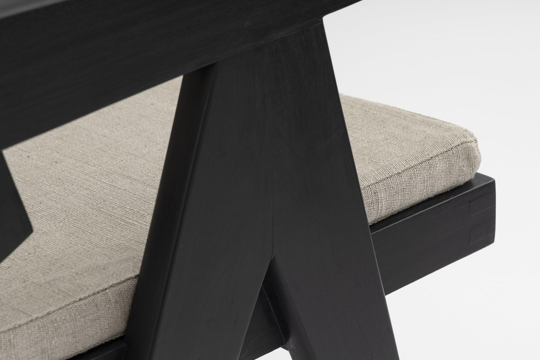 Italian Linen zit kussen - Pierre Jeanneret Chairs-3