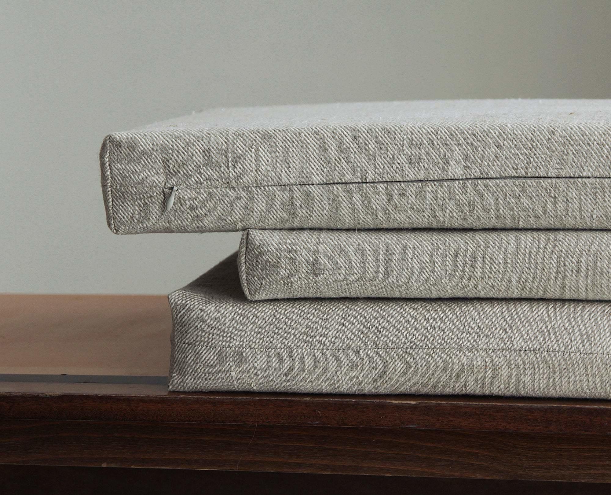 Italian Linen zit kussen - Pierre Jeanneret Chairs-5