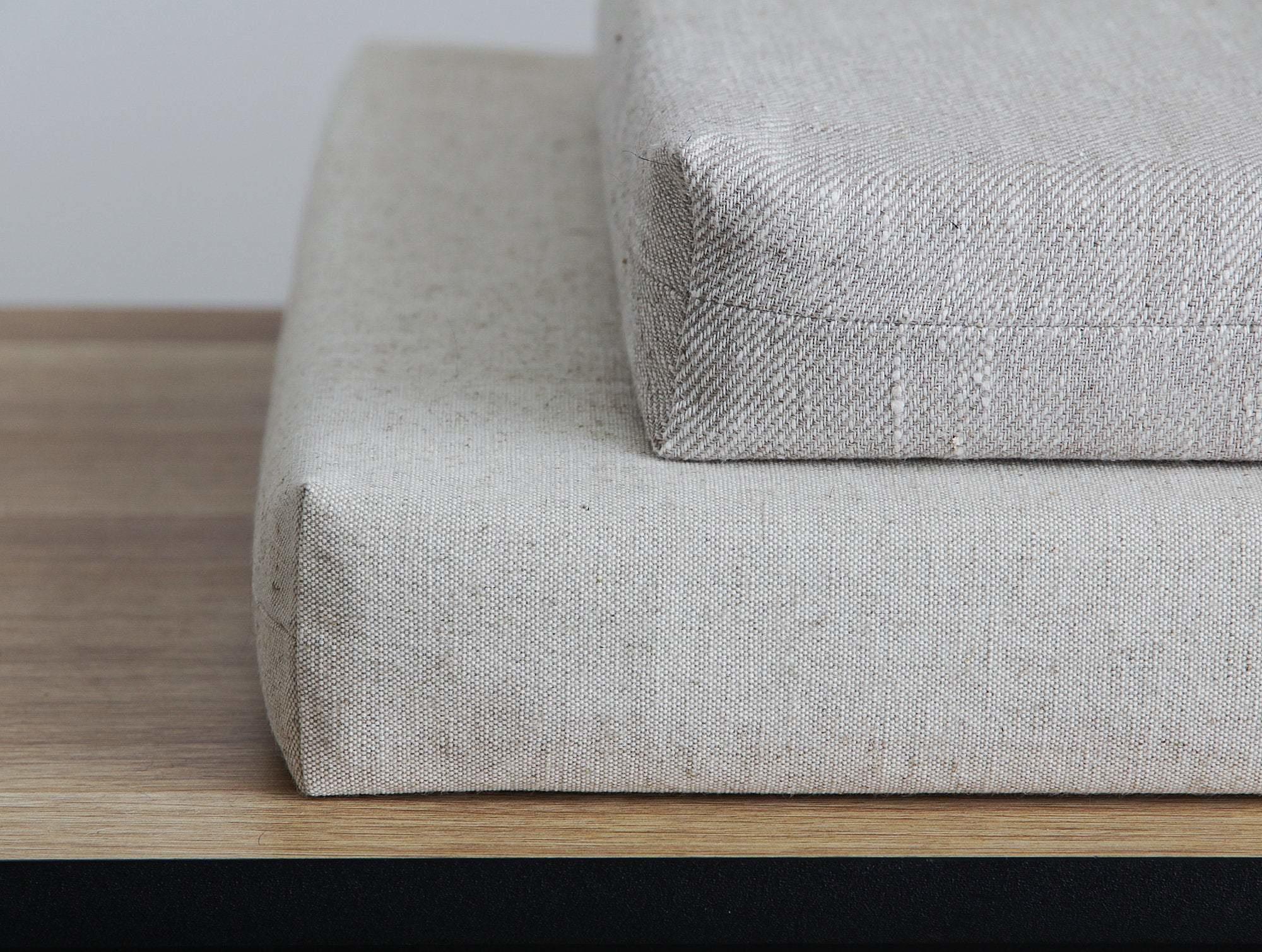 Italian Linen zit kussen - Pierre Jeanneret Chairs-6
