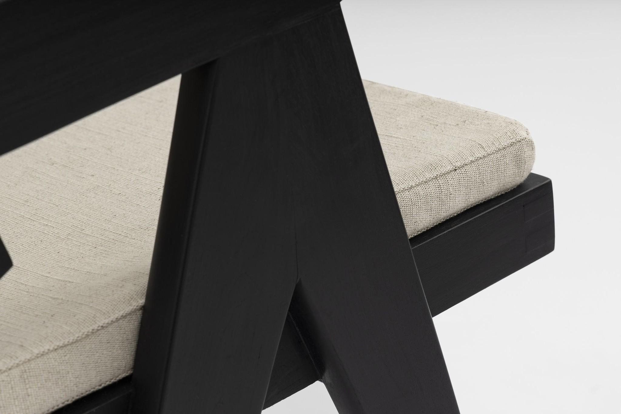 Italian Linen zit kussen - Pierre Jeanneret Chairs-4