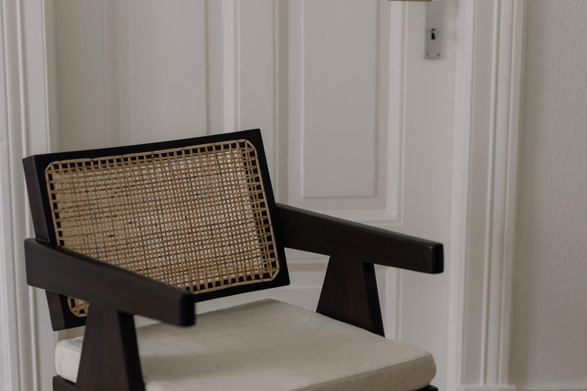 Italian Linen zit kussen - Pierre Jeanneret Chairs-7