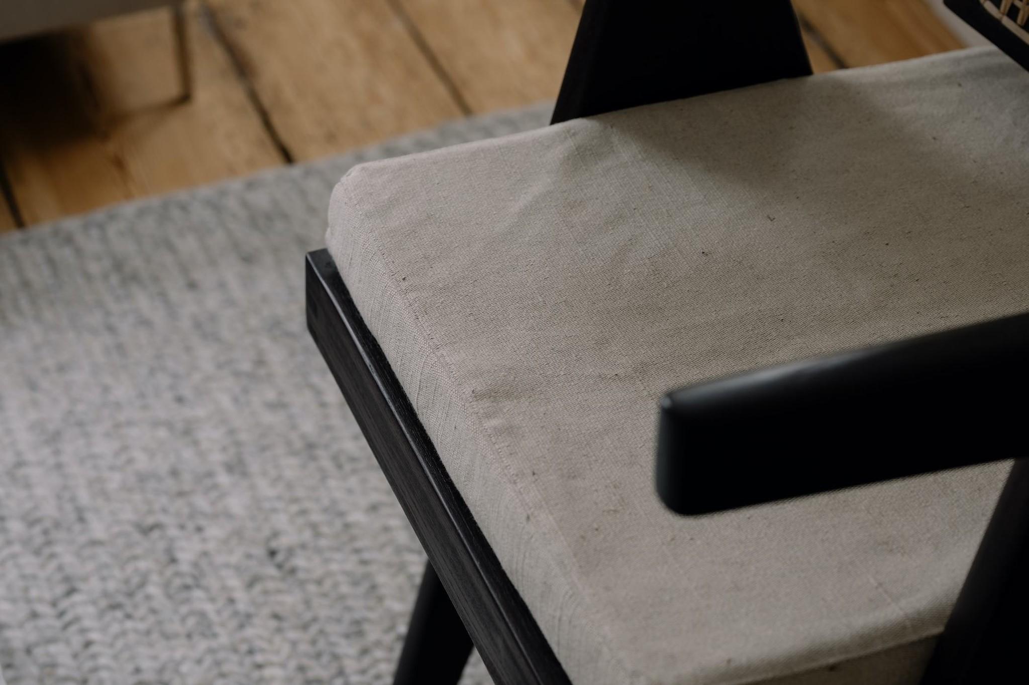 Italian Linen zit kussen - Pierre Jeanneret Chairs-8