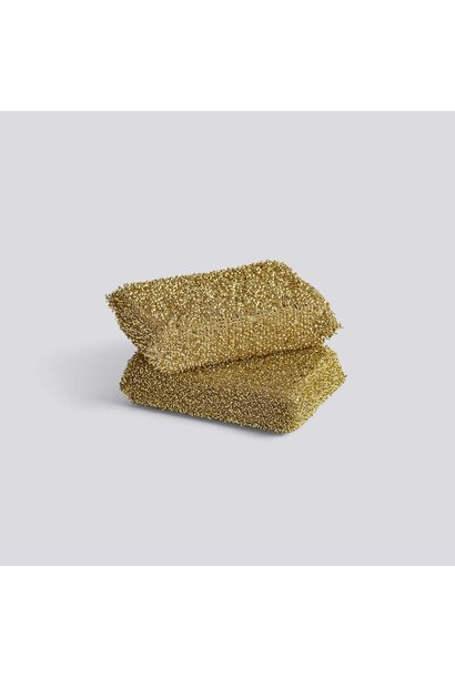 Lurex Sponge Set of 2 - Gold