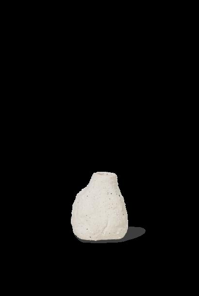 Vulca Mini Vase - Off White Stone