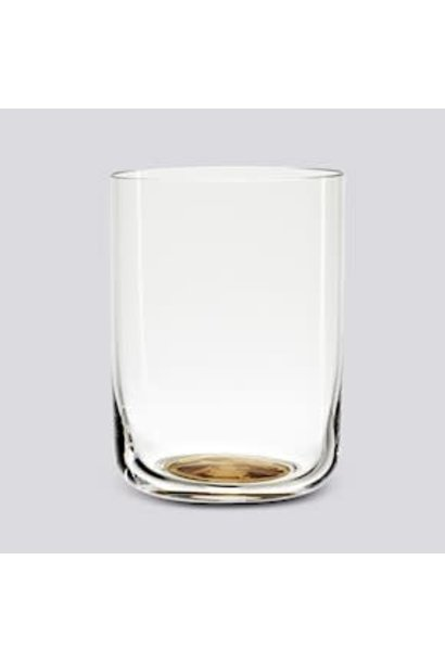 Colour Glass Water  High  - 25cl - Gold Dot