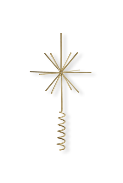 Christmas Tree Top Star - Brass