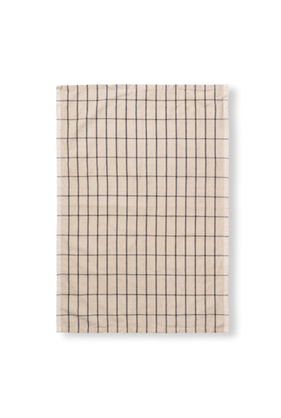 Hale Tea Towel - Sand/Black