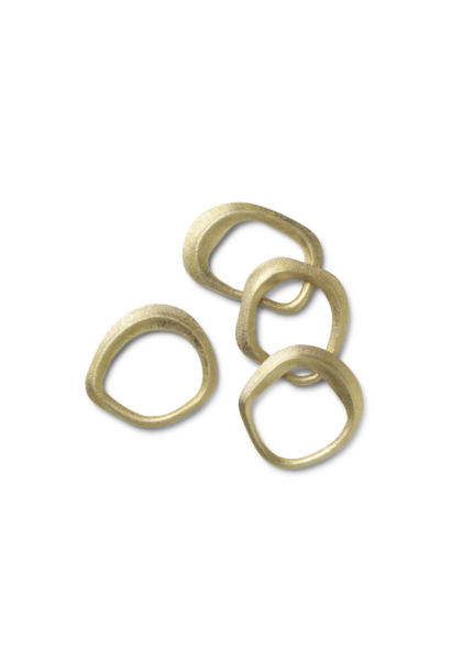 Flow Napkin Rings - Brass
