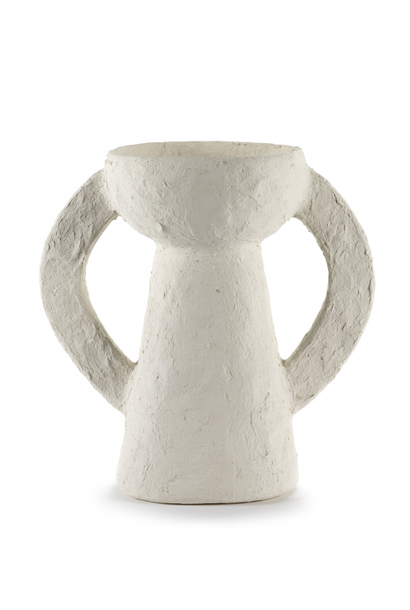 Vase L - White Earth