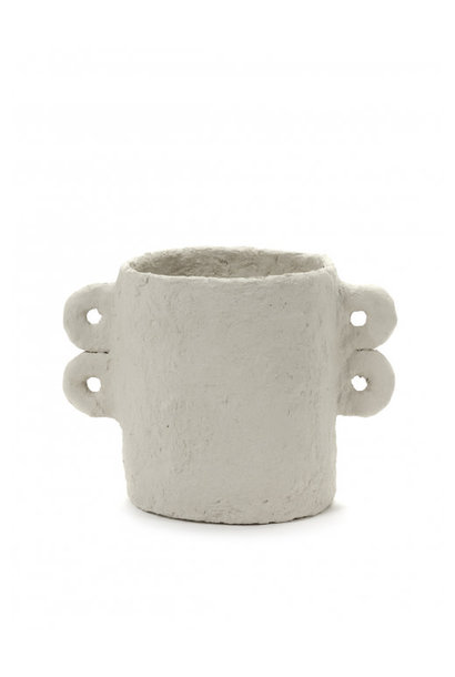 Pot Marie Paper Mache - Beige