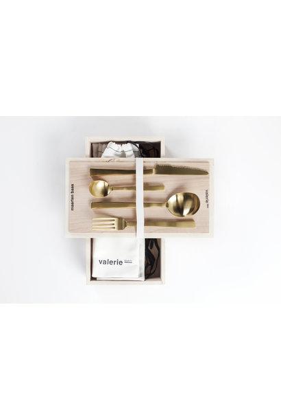 Giftbox - Maarten Baas - Brass Brushed 16 pcs
