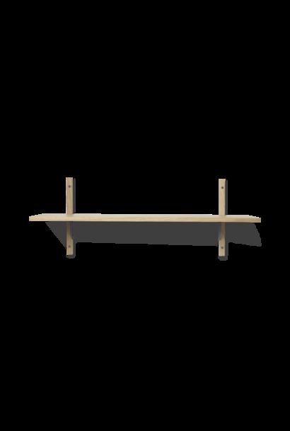 Sector Shelf S/W - Oak/ Black Brass