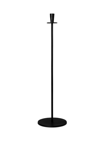 Hoy Casted Candleholder - Tall - Black