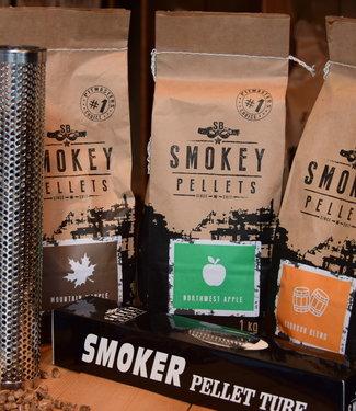 Smokey Bandit Starter pakket smoker + 3 x 1kg smokey pellets