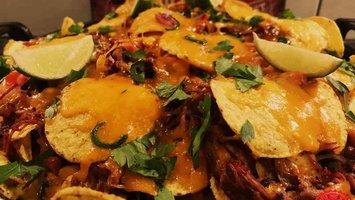 Pulled pork nachos van Mele Best