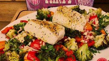 Kabeljauw met gegrilde groenten van Mele Best