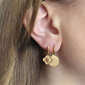 MonNblou Earrings Stainless Steel Goldplated